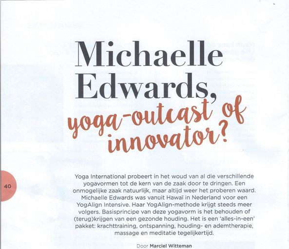 Yoga helden Yoga International: Michaelle Edwards
